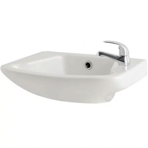 Kartell G4K Cloakroom Basin - 360mm Wide - 1 Tap Hole - White